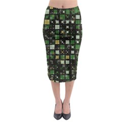 Small Geo Fun C Midi Pencil Skirt by MoreColorsinLife
