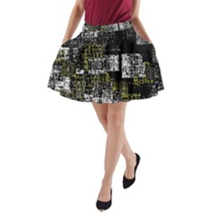 Abstract Art A Line Pocket Skirt by ValentinaDesign