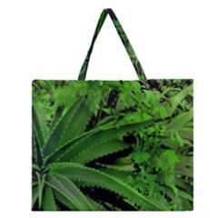 Vivid Tropical Design Zipper Large Tote Bag by dflcprints