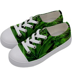 Vivid Tropical Design Kids  Low Top Canvas Sneakers by dflcprints