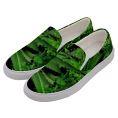 Vivid Tropical Design Men s Canvas Slip Ons by dflcprints