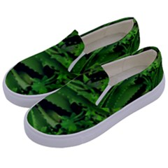 Vivid Tropical Design Kids  Canvas Slip Ons by dflcprints