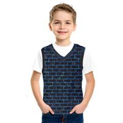 Brick1 Black Marble & Deep Blue Water Kids  Sportswear by trendistuff