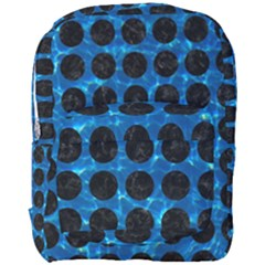 Circles1 Black Marble & Deep Blue Water (r) Full Print Backpack by trendistuff
