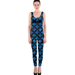 Circles3 Black Marble & Deep Blue Water (r) Onepiece Catsuit by trendistuff
