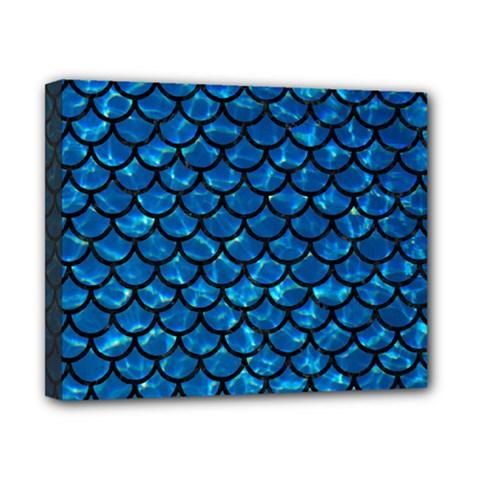 Scales1 Black Marble & Deep Blue Water (r) Canvas 10  X 8  by trendistuff