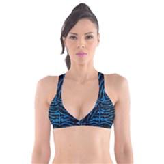 Skin2 Black Marble & Deep Blue Water Plunge Bikini Top