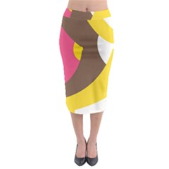 Breast Pink Brown Yellow White Rainbow Midi Pencil Skirt by Mariart