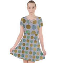 Green And Golden Dots Pattern                         Caught In A Web Dress
