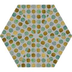 Green And Golden Dots Pattern                       Umbrella by LalyLauraFLM