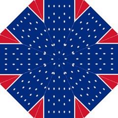 British American Flag Red Blue Star Folding Umbrellas by Mariart