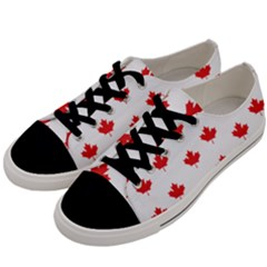 Canadian Maple Leaf Pattern Men s Low Top Canvas Sneakers by Mariart