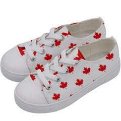 Canadian Maple Leaf Pattern Kids  Low Top Canvas Sneakers by Mariart