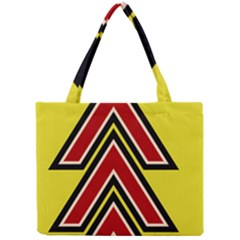 Chevron Symbols Multiple Large Red Yellow Mini Tote Bag by Mariart