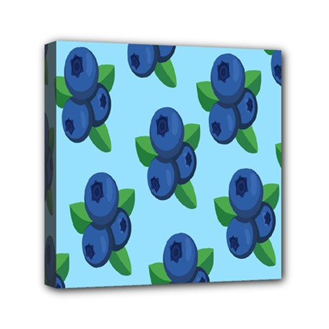 Fruit Nordic Grapes Green Blue Mini Canvas 6  X 6  by Mariart