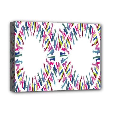Free Symbol Hands Deluxe Canvas 16  X 12   by Mariart