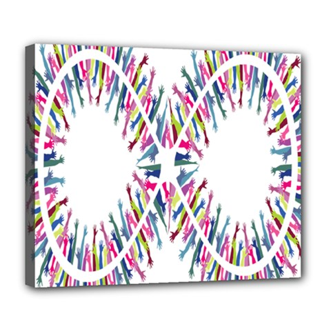 Free Symbol Hands Deluxe Canvas 24  X 20   by Mariart