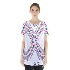 Free Symbol Hands Skirt Hem Sports Top by Mariart