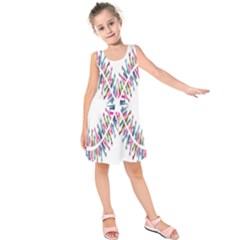 Free Symbol Hands Kids  Sleeveless Dress by Mariart
