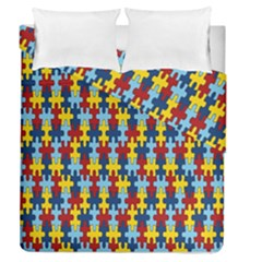 Fuzzle Red Blue Yellow Colorful Duvet Cover Double Side (queen Size) by Mariart