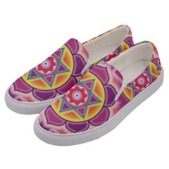 Kali Yantra Inverted Rainbow Men s Canvas Slip Ons by Mariart