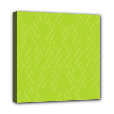 Line Green Mini Canvas 8  X 8  by Mariart