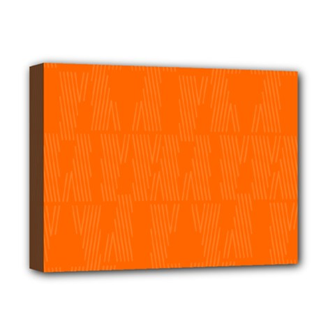 Line Orange Deluxe Canvas 16  X 12   by Mariart