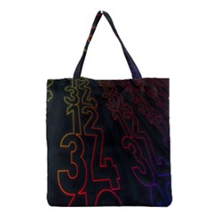 Neon Number Grocery Tote Bag by Mariart