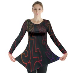 Neon Number Long Sleeve Tunic  by Mariart
