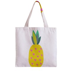 Pineapple Fruite Yellow Triangle Pink Zipper Grocery Tote Bag by Mariart