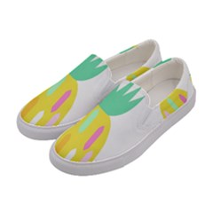 Pineapple Fruite Yellow Triangle Pink White Women s Canvas Slip Ons by Mariart