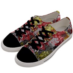 Garden Abstract Men s Low Top Canvas Sneakers by theunrulyartist