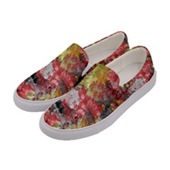 Garden Abstract Women s Canvas Slip Ons by theunrulyartist