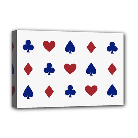Playing Cards Hearts Diamonds Deluxe Canvas 18  X 12   by Mariart