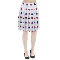 Playing Cards Hearts Diamonds Pleated Skirt by Mariart