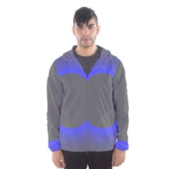 Pure Energy Black Blue Hole Space Galaxy Hooded Wind Breaker (men) by Mariart