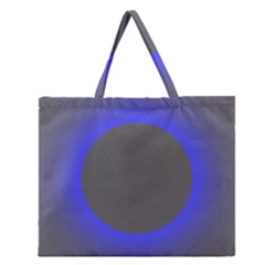Pure Energy Black Blue Hole Space Galaxy Zipper Large Tote Bag by Mariart