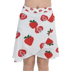 Red Fruit Strawberry Pattern Chiffon Wrap