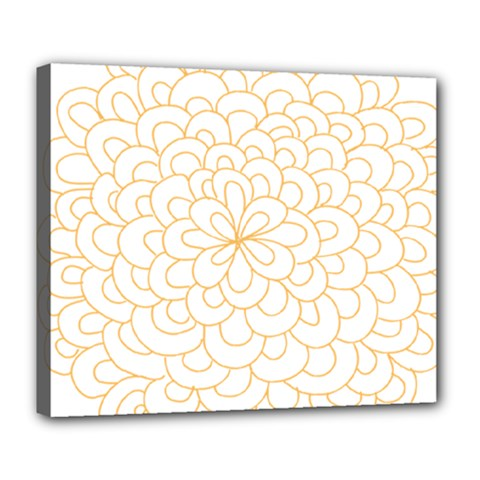 Rosette Flower Floral Deluxe Canvas 24  X 20   by Mariart