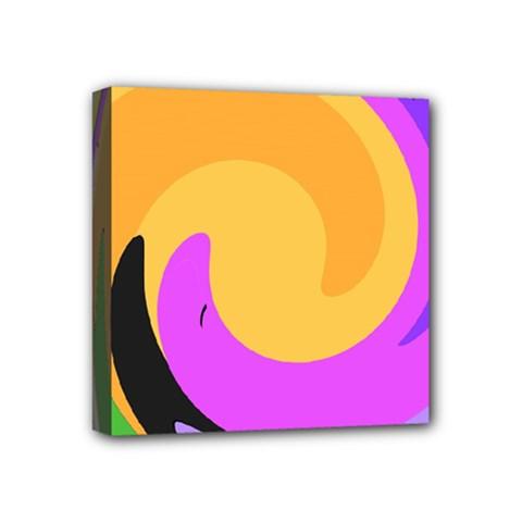 Spiral Digital Pop Rainbow Mini Canvas 4  X 4  by Mariart
