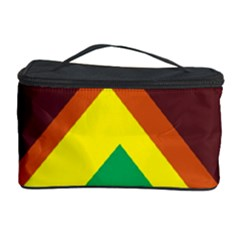 Triangle Chevron Rainbow Web Geeks Cosmetic Storage Case by Mariart