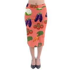 Vegetable Carrot Tomato Pumpkin Eggplant Midi Pencil Skirt by Mariart