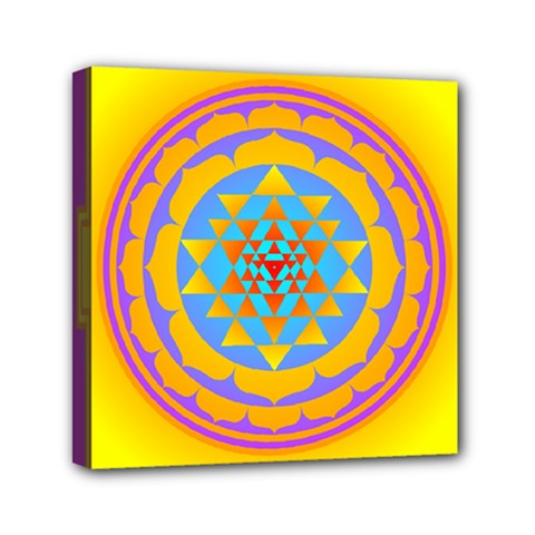 Triangle Orange Pink Mini Canvas 6  X 6  by Mariart