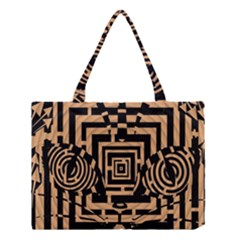 Wooden Cat Face Line Arrow Mask Plaid Medium Tote Bag by Mariart