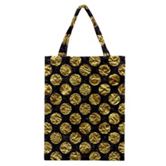 Circles2 Black Marble & Gold Foil Classic Tote Bag by trendistuff