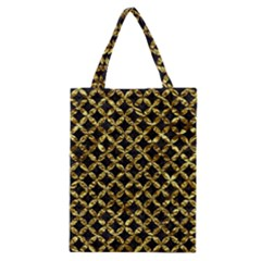 Circles3 Black Marble & Gold Foil Classic Tote Bag by trendistuff
