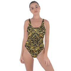 Damask1 Black Marble & Gold Foil (r) Bring Sexy Back Swimsuit by trendistuff
