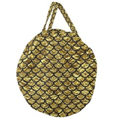Scales1 Black Marble & Gold Foil (r) Giant Round Zipper Tote by trendistuff