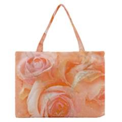 Flower Power, Wonderful Roses, Vintage Design Zipper Medium Tote Bag by FantasyWorld7