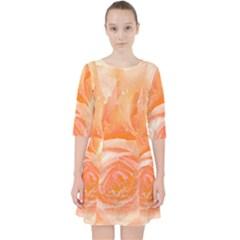 Flower Power, Wonderful Roses, Vintage Design Pocket Dress